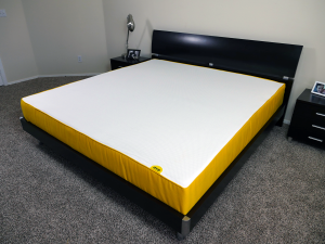 Angled view of the Eve mattress