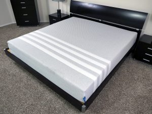 Angled view of the Leesa mattress