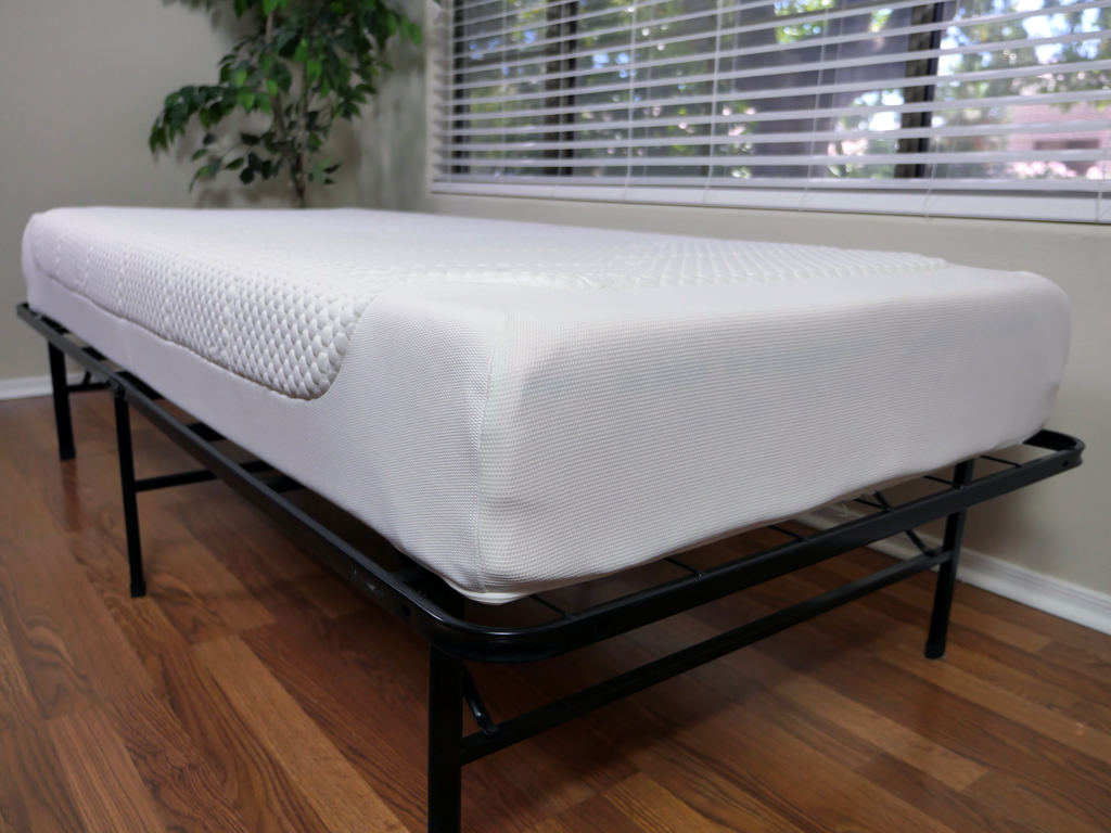 Tempur Cloud Deluxe 22 mattress, angled view