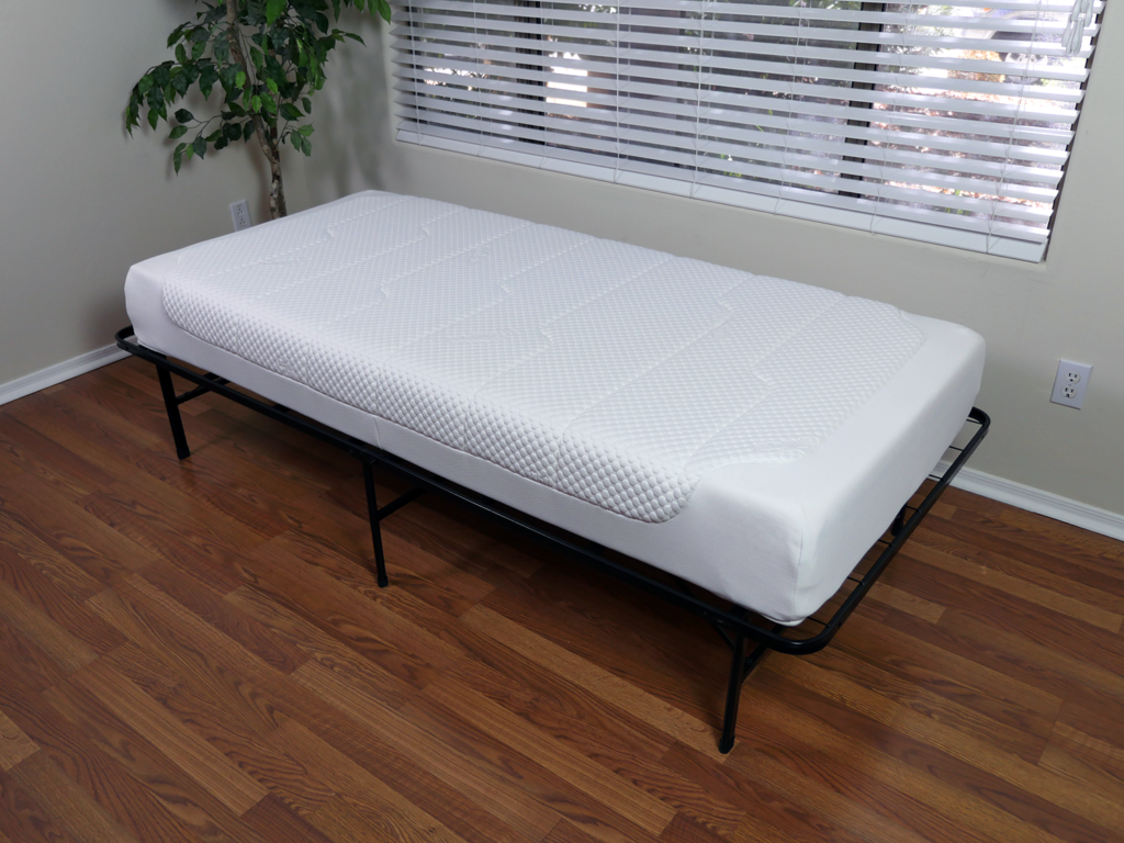 Angled view of the Tempur Cloud Deluxe 22 mattress