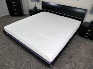 Angled view of the Hyde & Sleep hybrid mattress