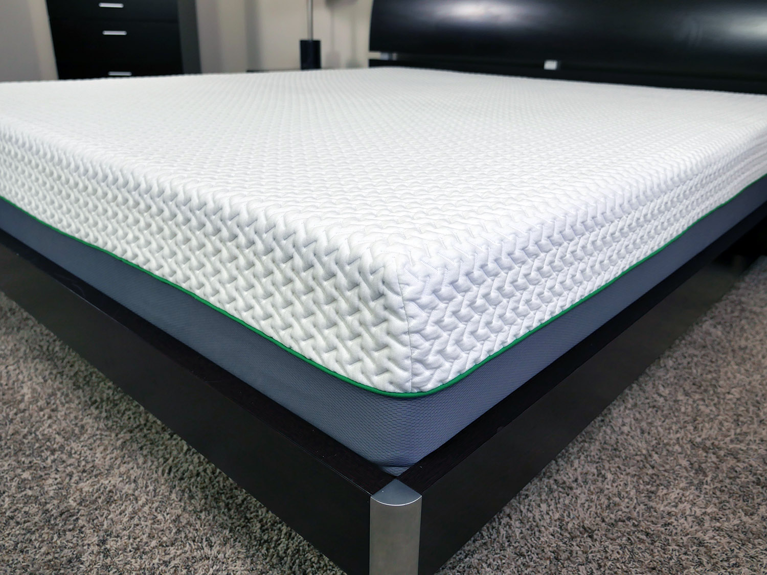 Close up shot of the memory foam Hyde & Sleep mattress cover