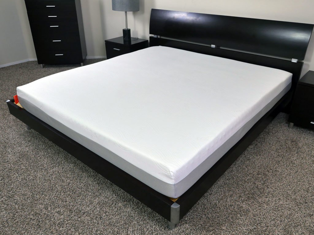 Angled view of the Brighter mattress