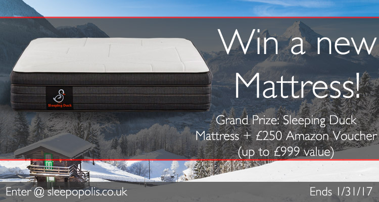 Enter to win a new Sleeping Duck mattress + £250 Amazon.co.uk Voucher