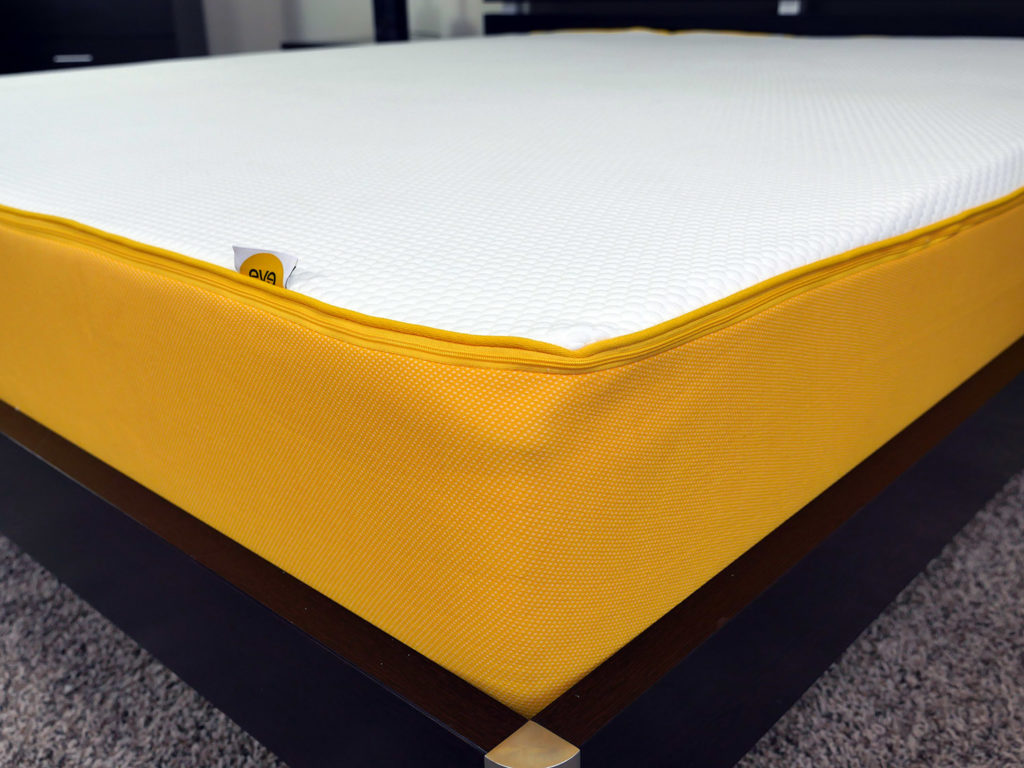 Close up shot of the Eve mattress cover