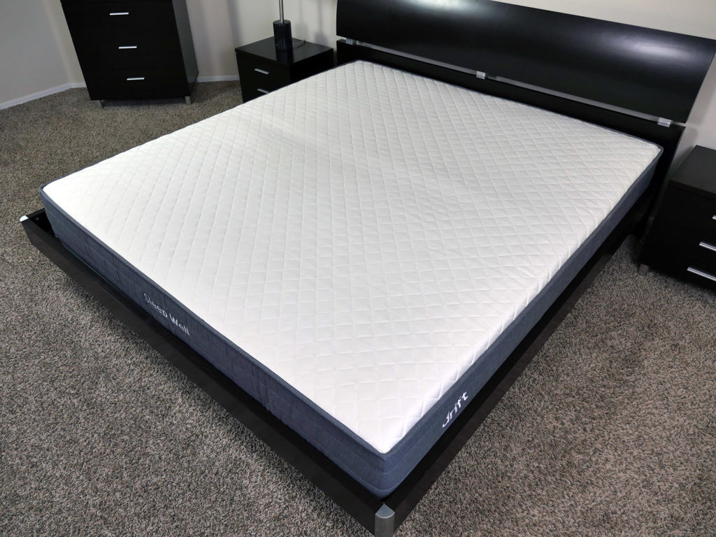 Angled view of the Drift mattress