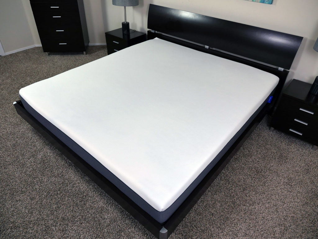 Angled view of the Emma mattress