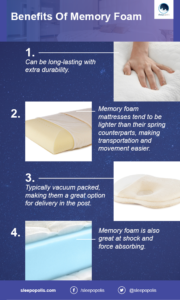 Some common memory foam benefits